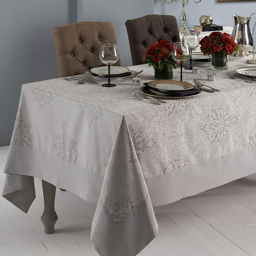 Aspen Grey Tablecloth Easy-care  70