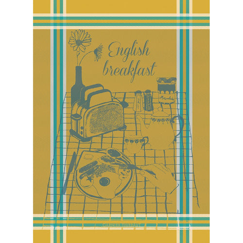 English Breakfast French Kitchen Towel