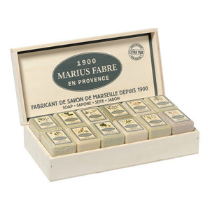Marius Fabre Assorted Soaps in a Wooden Case (23X5.3OZ)