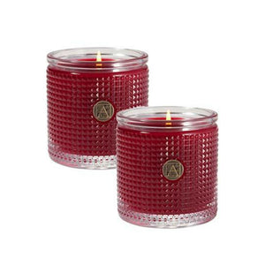 Smell of the Christmas Textured Glass Scented Jar Candle - Set of 2