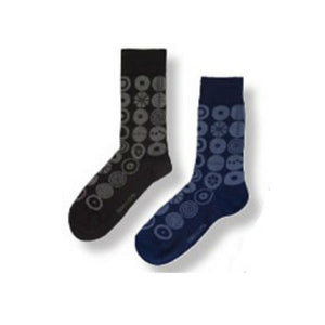 "Bengt & Lotta ""Candy"" Dark Grey Socks,  Small"