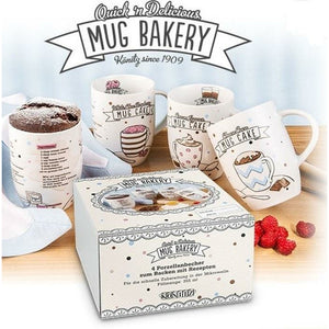 Mug Bakery Recipe (Set of 4) Gift Box