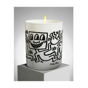 Keith Haring White and Black Drawing Scented Candle