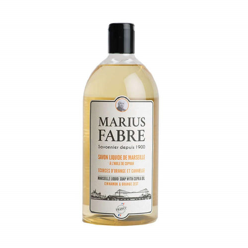 Marius Fabre Marseille Liquid Soap Refill 33.8 fl.oz -Cinnamon and Orange Zest