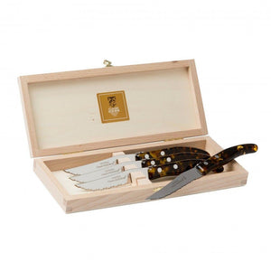Laguiole Berlingot Steak Knives Set of 4 Tortoise