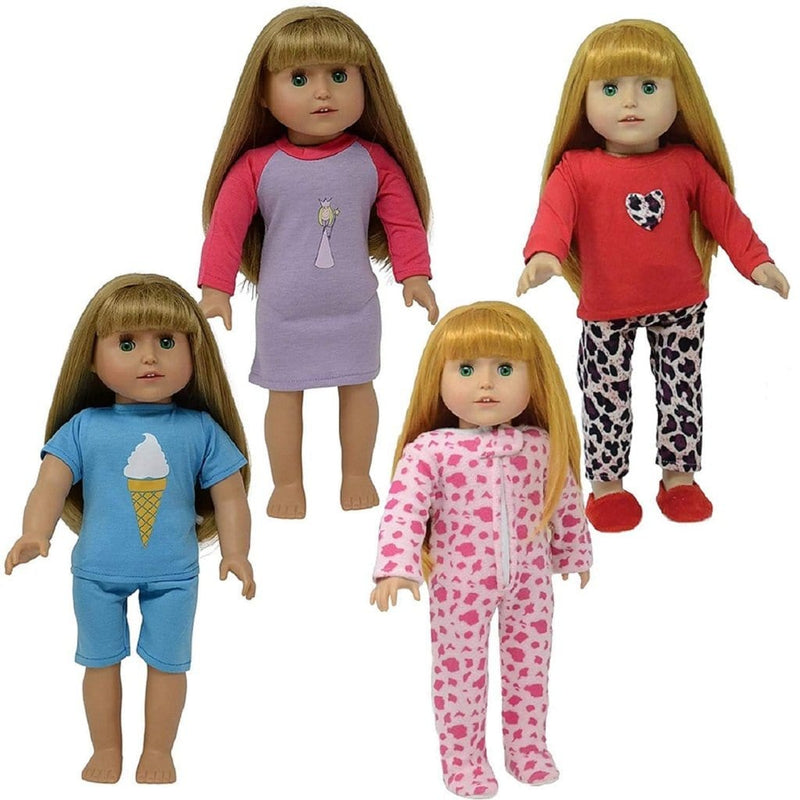 The New York Doll - Set of 4 Pajamas for 18 Inch Doll