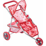 The New York Doll - Doll Jogging Stroller Pink Hearts