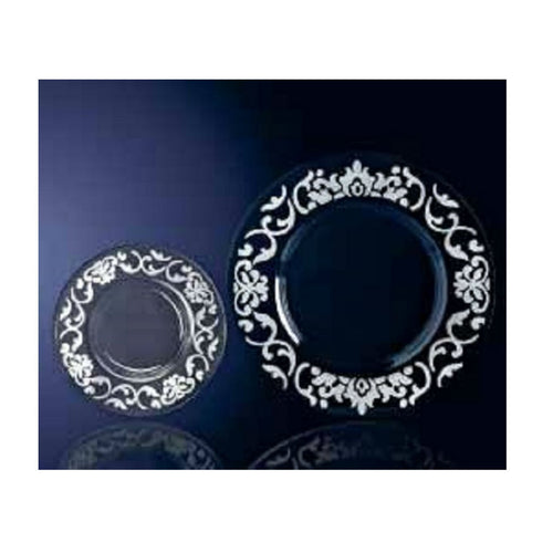Egizia Crystal Plate with Silver Decoration Fontainebleau 13