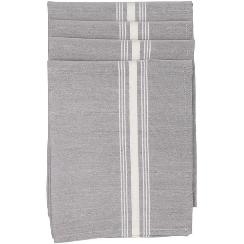 Bistro Napkins Easy Care Grey Chambray (Set of 4)