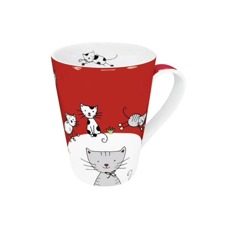 Globetrotter Cat Red Mug