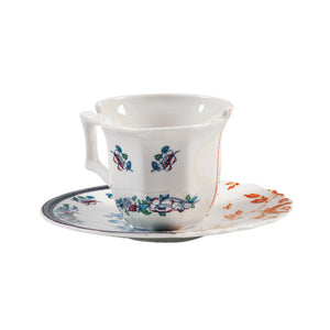 Hybrid Leonia Coffee Cup and Saucer Porcelain Multicolor