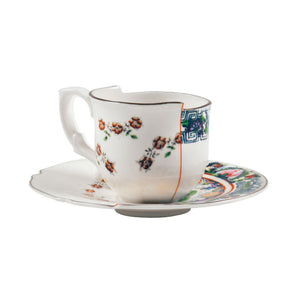 Hybrid Tamara Coffee Cup and Saucer Porcelain Multicolor