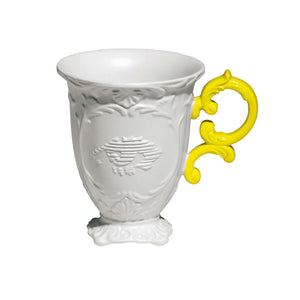 I-Mug Porcelain Coffee Cup with Yellow Handle