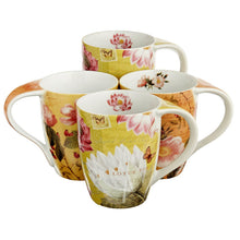 Load image into Gallery viewer, Mugs by Konitz, Lotus and Fruit Tea Flower Mugs Set of 4