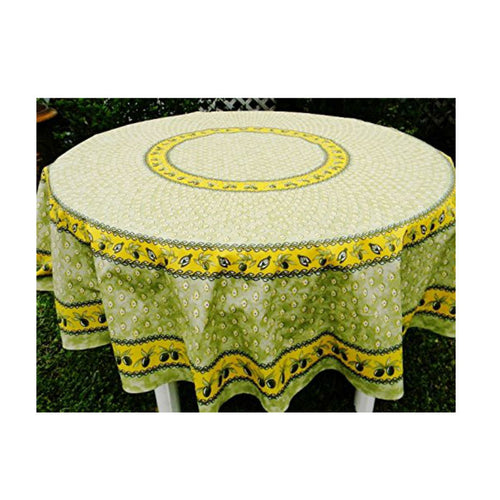 Monaco Green Coated Tablecloth (sizes available)