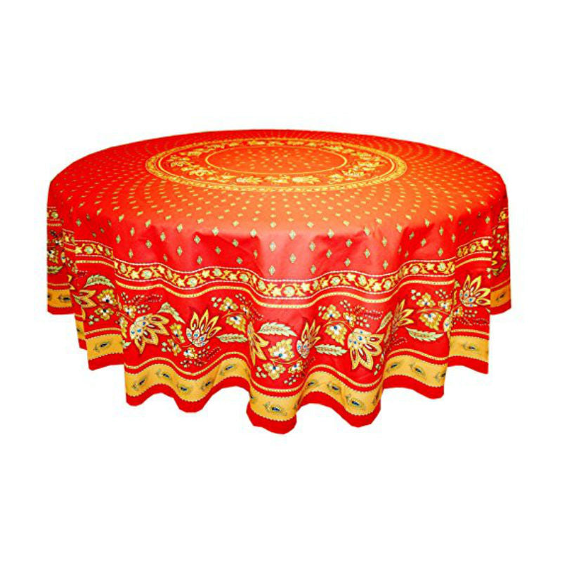 Lisa Red Coated Tablecloth (sizes available)