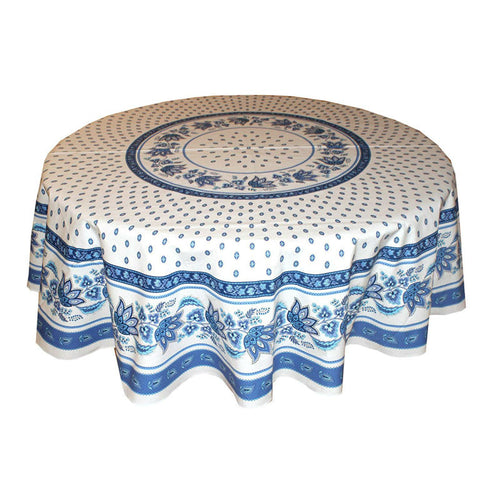Lisa White Coated Tablecloth 70