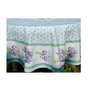 Lavender Light Blue Coated Tablecloth (sizes available)