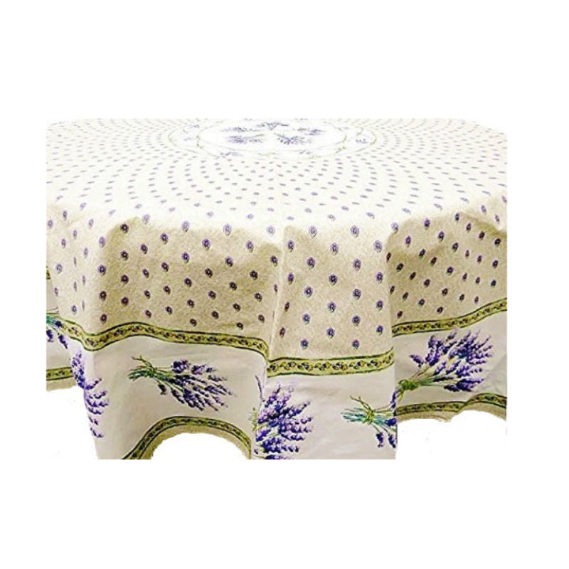 Lavender Creme Coated Tablecloth 70