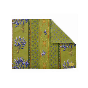 Lavender Green Coated Reversible Placemats Set of 4