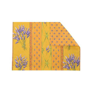 Lavender Yellow Coated Placemats Set of 4