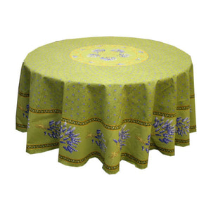 Lavender Green Coated Tablecloth (sizes available)