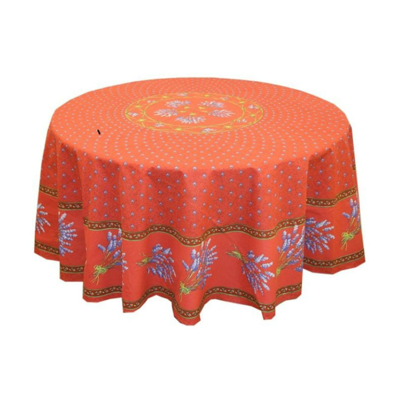 Lavender Red Coated Tablecloth (sizes available)