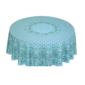 Lisa Turquoise Coated Tablecloth (sizes available)