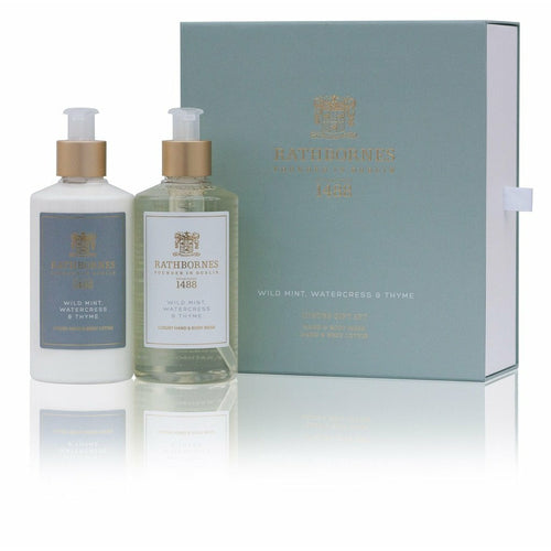 Rathbornes Luxury Wild Mint Hand and Body Wash with Lotion Gift Set