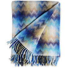 Load image into Gallery viewer, Missoni Montgomery Blue Throw 170