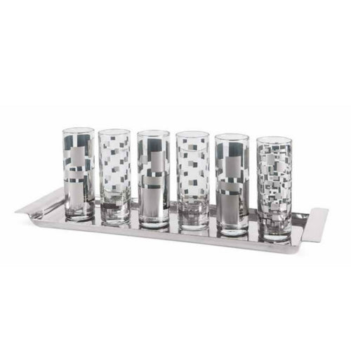 Quadrotto Vodka Shot Glasses Set of 6