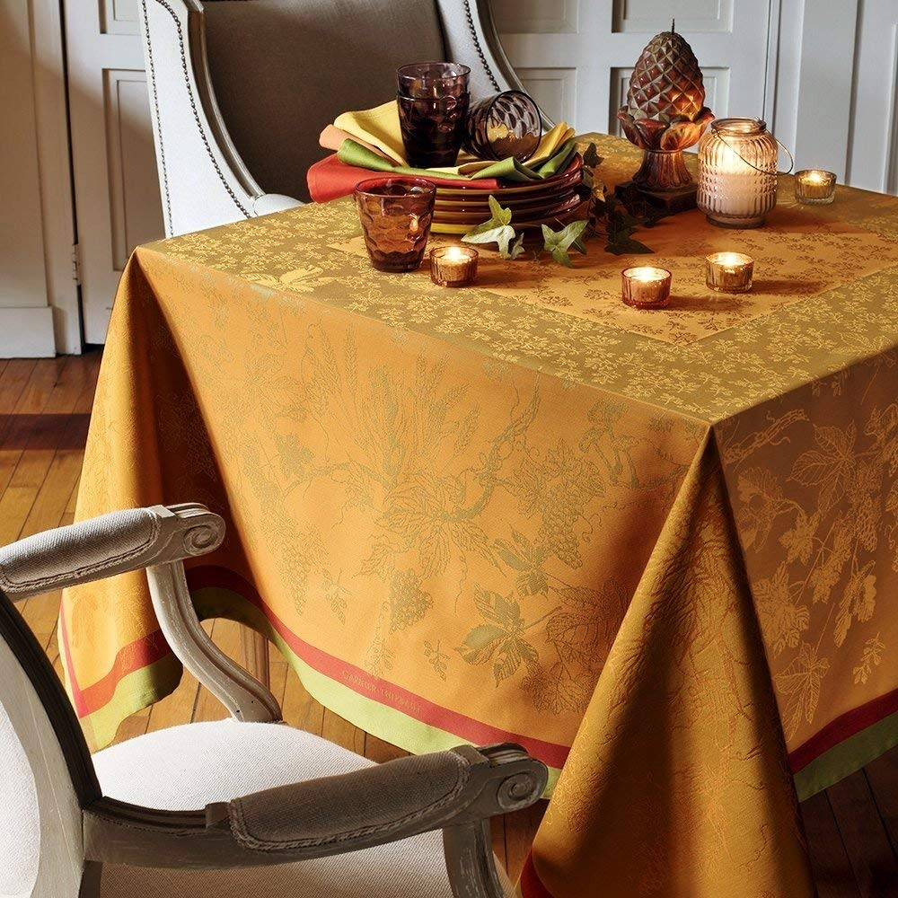 Garnier-Thiebaut Tablecloth Plaisirs D Automne Roux 69