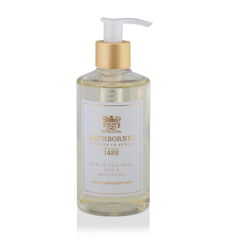 Rathbornes Liquid soap Dublin Tea Rose, Oud and Patchouli