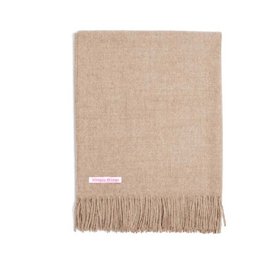 Simple Things Baby Alpaca Throw Color Natural Mushroom 70