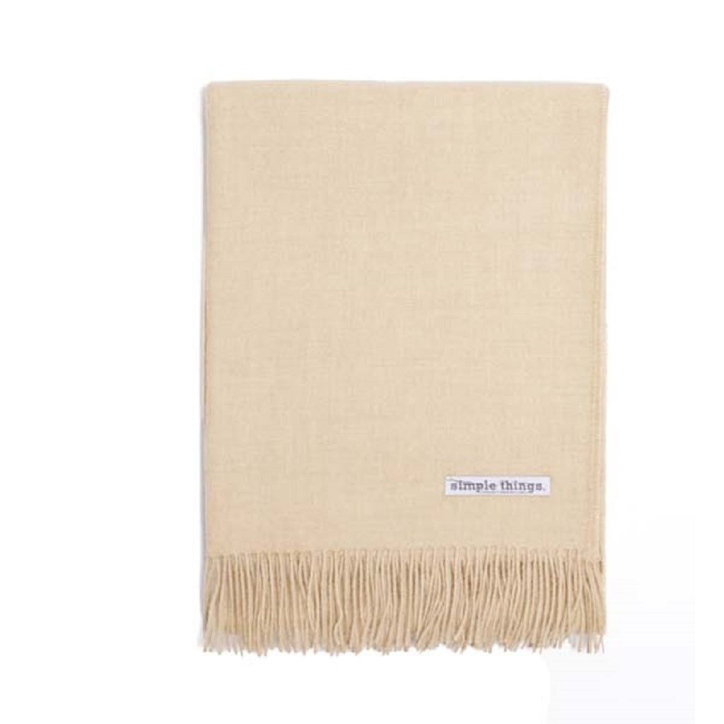 Simple Things Baby Alpaca Throw Color Natural Oatmeal 70