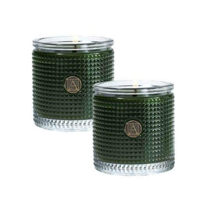 Smell of Tree Textured Glass Scented Jar Candle - Set of 2