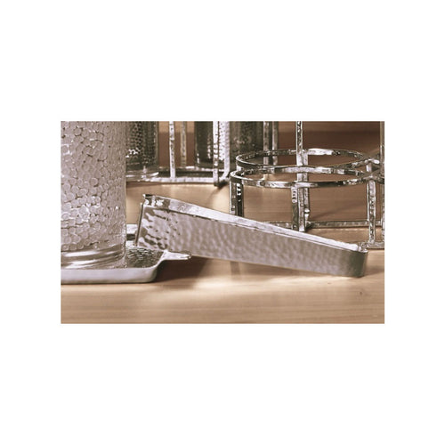 Silver Plated Hammered Ice Tongs