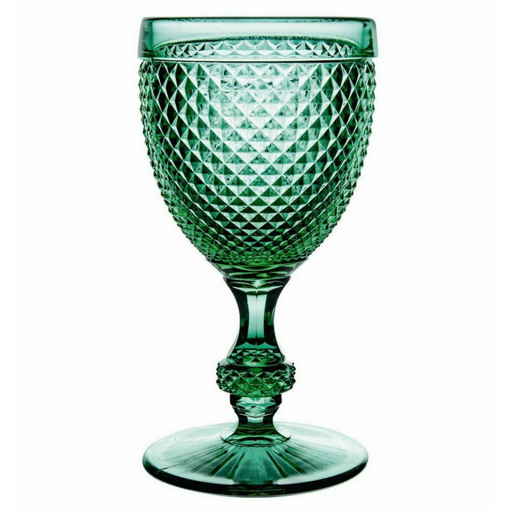 Bicos Water Goblets Set of 4 Green