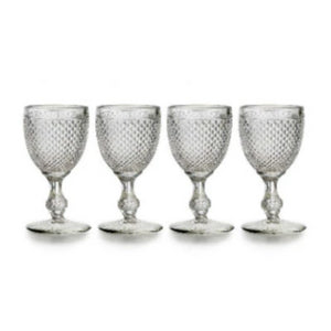 Bicos Clear Water Goblets Set of 4