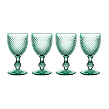 Load image into Gallery viewer, Bicos Mint Green Water Goblet (Set of 4)