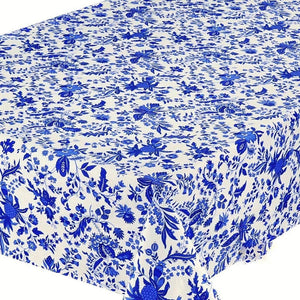 Versailles Blue & White Coated Tablecloth (sizes available)