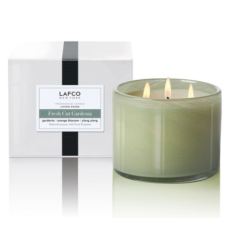Fresh Cut Gardenia Living Room 3-Wick Scented Candle