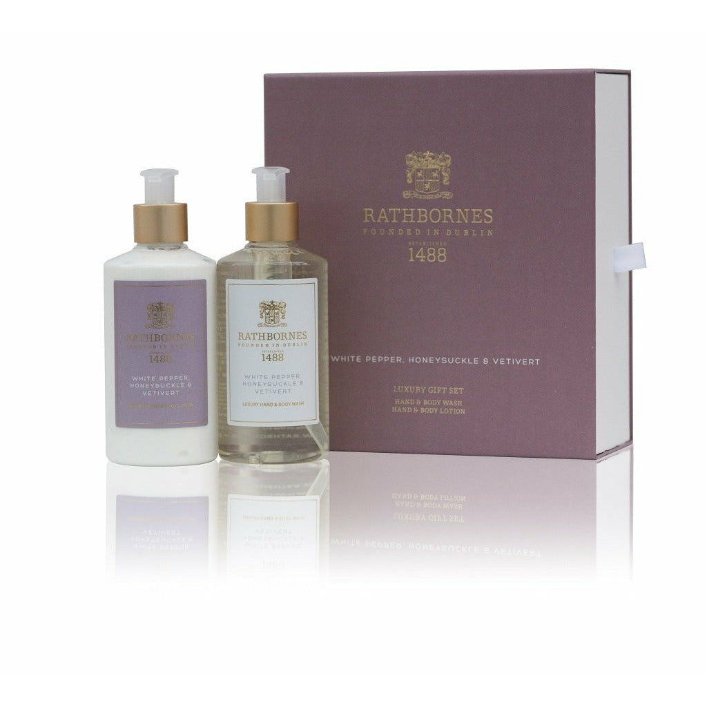 Rathbornes White Pepper Luxury Hand & Body Wash with Lotion Set