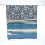 Blue Turkish beach towel Soft Fast Drying Picnic Hangout Tequila Piscina