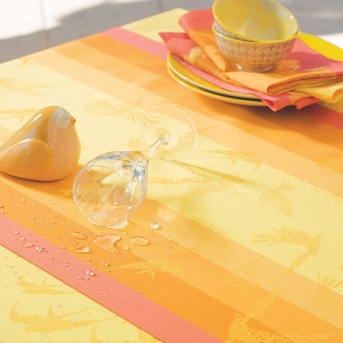 "Garnier-Thiebaut Tablecloth Envolee Soleil 69"" Square"
