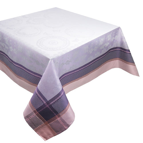 "Garnier-Thiebaut Tablecloth Faiences Mauve 69"" Square"