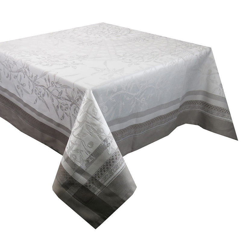 "Garnier-Thiebaut Tablecloth Persephone Sepia 69"" Square"