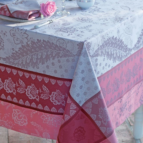 "Garnier-Thiebaut Tablecloth Garance Cassis 69"" Square"