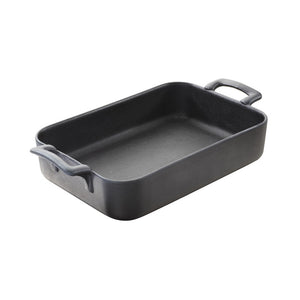 Belle Cuisine Rectangular Baking Dish Black Cast Iron Style  (2 sizes available)