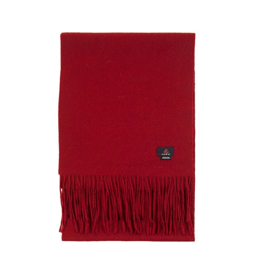Cashmere Blend Woven Scarf in Claret